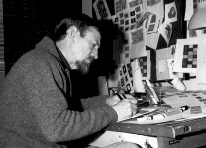 René Jodoin à l'œuvre en 1980