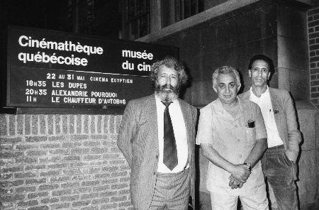 Tahar Chéri'aa, Tewfik Salah et Khémaïs Khayati à Montréal à l'occasion de la rétrospective du cinéma égyptien.