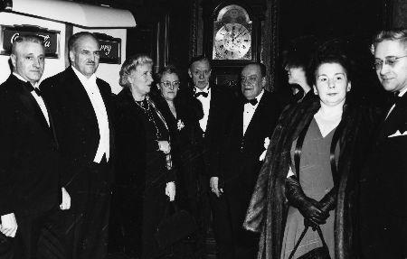 Soir de la première : au centre le maire Houde, à droite René Germain et son épouse