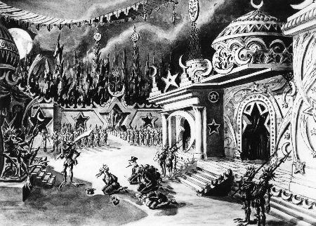 LE VOYAGE DANS LA LUNE (1902) - croquis
