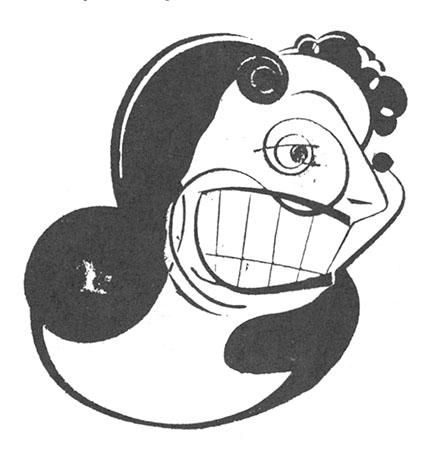 La belle Donalda à l'écran : caricature de Lapalme parue dans Le Canada du 28-1-49