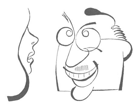 Paul L'Anglais : caricature de Lapalme parue dans Le Canada du 24-4-47