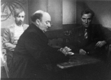 H. Poitras, A. Fadeuilhe, P. Vandenberghe; le prêtre va au café chercher la brebis égarée