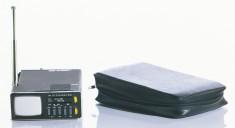 Téléviseur Microvision MTV-1 Sinclair, Royaume-Uni, 1980. Clive Sinclair était un industriel important au Royaume-Uni dans le monde de l'électronique miniature. Le manufacturier annonçait que son modèle Microvision permettait de syntoniser la télévision n'importe où dans le monde occidental et était compatible avec les normes européennes et nord- américaines de télévision. © Cinémathèque québécoise/Collection Moses Znaimer