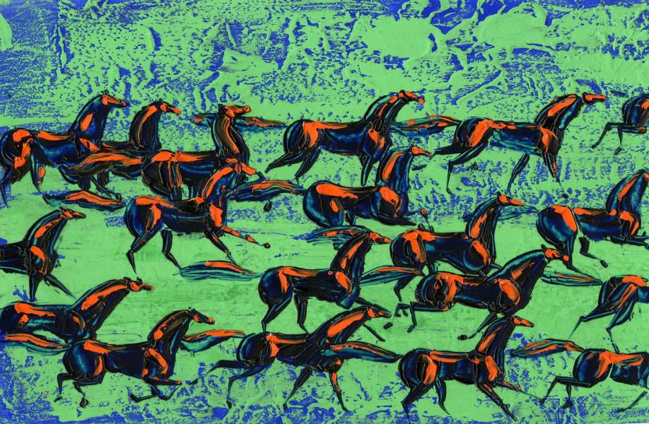 Witold Giersz, Le cheval (Koń), 1967 Dimension de l'original: 38 cm × 26 cm Medium: gouache sur carton - Coll. Cinémathèque québécoise - 1992.0184.AN.02